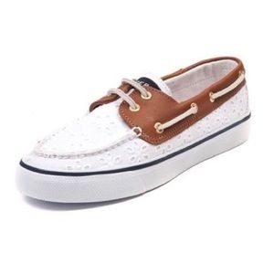 Sperry Top-Sider Floral Eyelet Boat Shoes